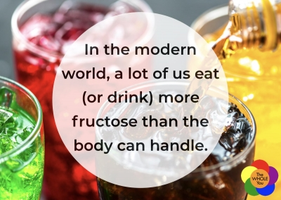 We consume more fructose than our body can handle