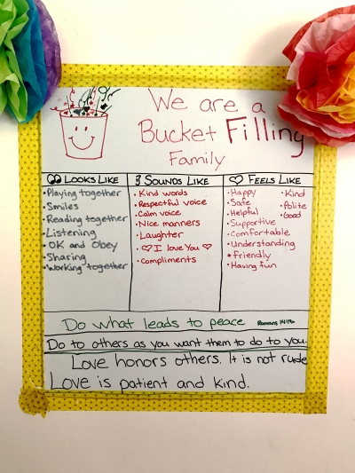 Our family's bucket filling list