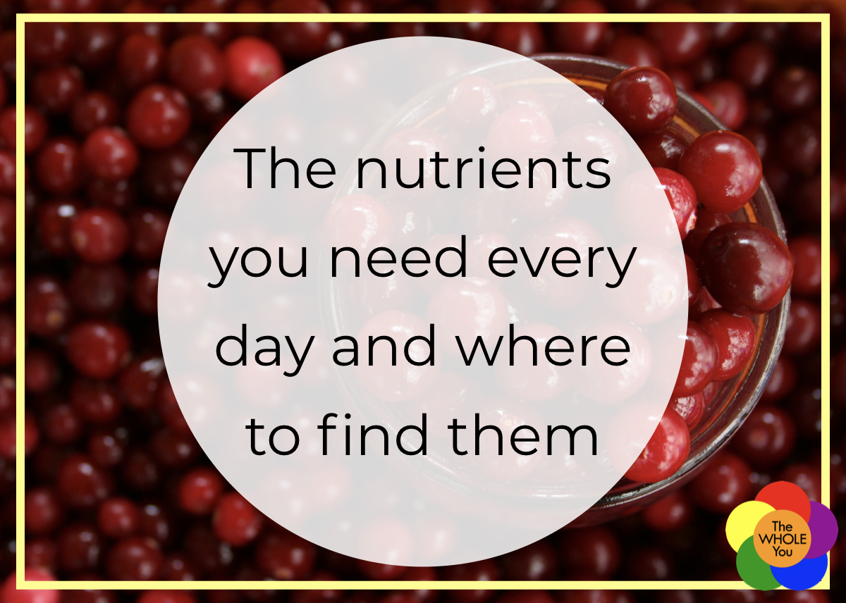 The nutrients you need every day and where to find them