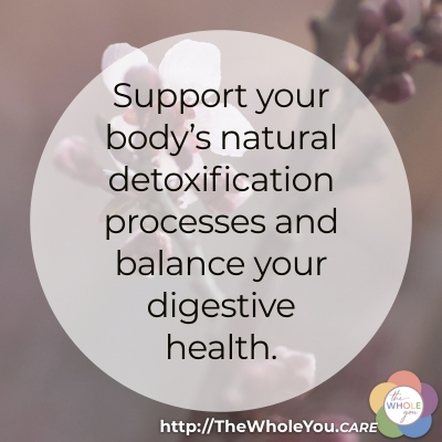 How to support your body's natural detoxification and balance your digestive health