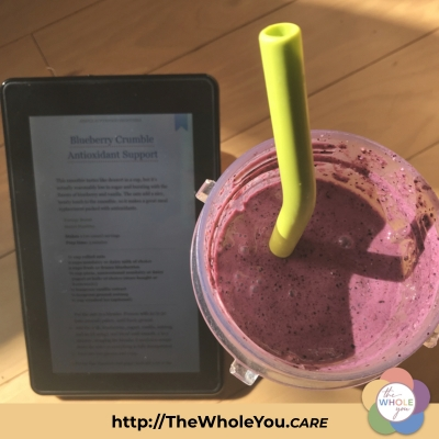 """Blueberry Crumble Antioxidant Support"" smoothie"